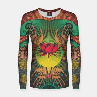 Miniature de image de Red flower Shrine Women sweater, Live Heroes