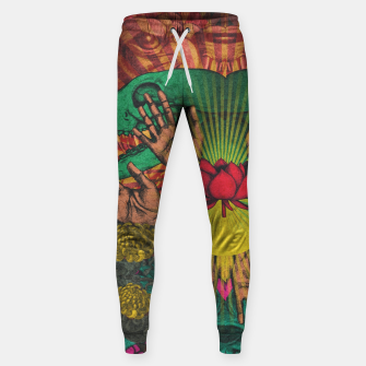 Miniaturka Red flower Shrine Sweatpants, Live Heroes