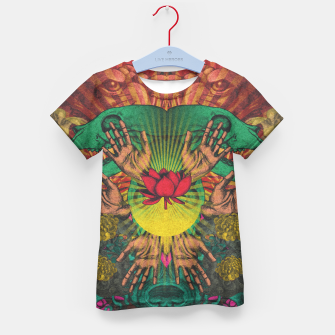 Miniature de image de Red flower Shrine Kid's t-shirt, Live Heroes