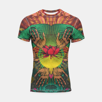 Miniature de image de Red flower Shrine Shortsleeve rashguard, Live Heroes