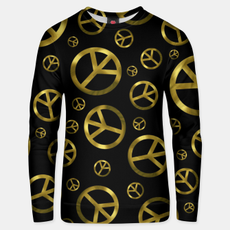 Thumbnail image of Peace Sign Gold Unisex sweater, Live Heroes