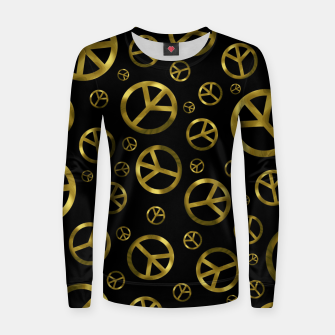 Thumbnail image of Peace Sign Gold Women sweater, Live Heroes