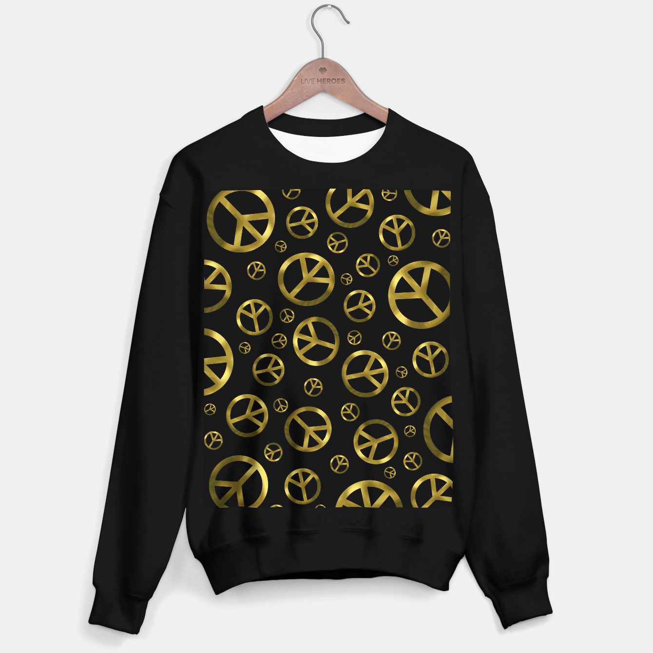 Foto Peace Sign Gold Sweater regular - Live Heroes