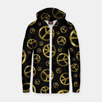 Miniaturka Peace Sign Gold Zip up hoodie, Live Heroes