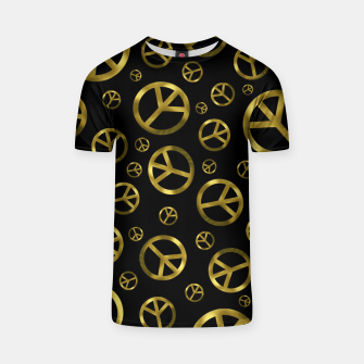 Miniatur Peace Sign Gold T-shirt, Live Heroes