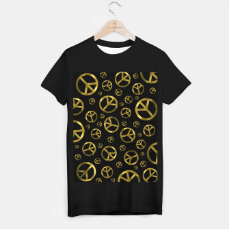 Miniature de image de Peace Sign Gold T-shirt regular, Live Heroes