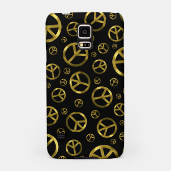 Thumbnail image of Peace Sign Gold Samsung Case, Live Heroes
