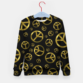 Miniatur Peace Sign Gold Kid's sweater, Live Heroes