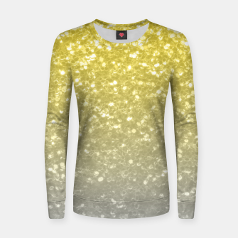 Light ultimate grey illuminating yellow sparkles Women sweater thumbnail image
