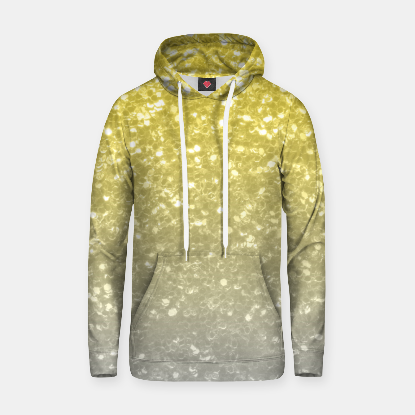Image of Light ultimate grey illuminating yellow sparkles Hoodie - Live Heroes