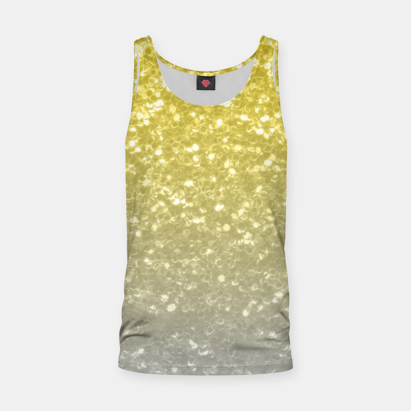 Image of Light ultimate grey illuminating yellow sparkles Tank Top - Live Heroes