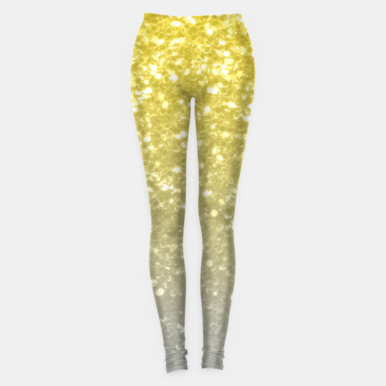 Image of Light ultimate grey illuminating yellow sparkles Leggings - Live Heroes
