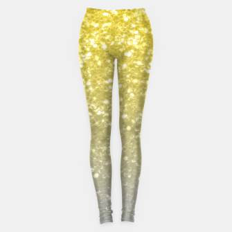 Thumbnail image of Light ultimate grey illuminating yellow sparkles Leggings, Live Heroes