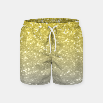 Miniatur Light ultimate grey illuminating yellow sparkles Swim Shorts, Live Heroes