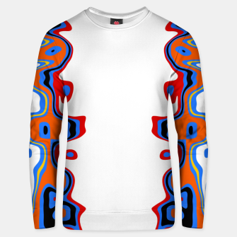 Thumbnail image of Two Sided Abstract White Unisex sweater, Live Heroes