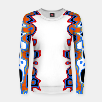 Thumbnail image of Two Sided Abstract White Women sweater, Live Heroes