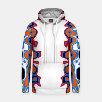 Miniatur Two Sided Abstract White Hoodie, Live Heroes