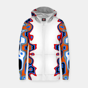 Miniaturka Two Sided Abstract White Zip up hoodie, Live Heroes