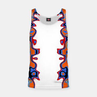 Imagen en miniatura de Two Sided Abstract White Tank Top, Live Heroes