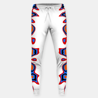 Miniaturka Two Sided Abstract White Sweatpants, Live Heroes