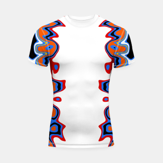 Thumbnail image of Two Sided Abstract White Shortsleeve rashguard, Live Heroes