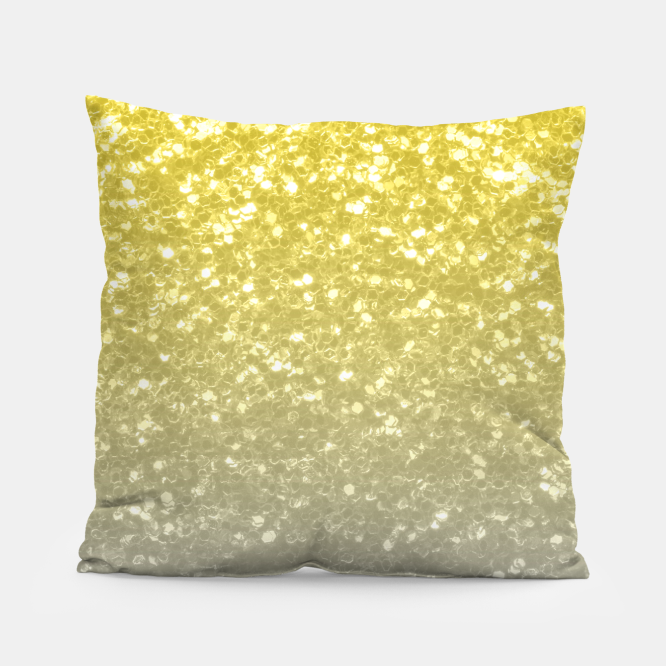 Image of Light ultimate grey illuminating yellow sparkles Pillow - Live Heroes