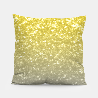 Light ultimate grey illuminating yellow sparkles Pillow thumbnail image