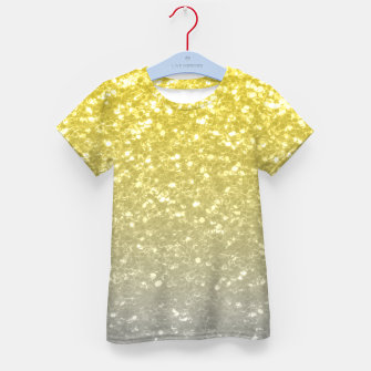 Miniatur Light ultimate grey illuminating yellow sparkles Kid's t-shirt, Live Heroes