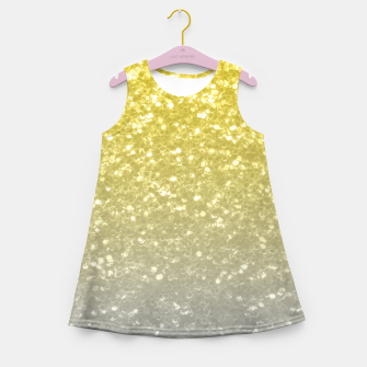 Miniaturka Light ultimate grey illuminating yellow sparkles Girl's summer dress, Live Heroes