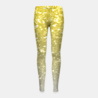 Thumbnail image of Light ultimate grey illuminating yellow sparkles Girl's leggings, Live Heroes