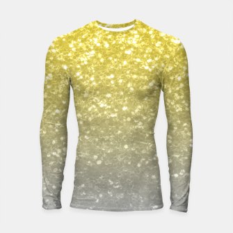 Light ultimate grey illuminating yellow sparkles Longsleeve rashguard  thumbnail image