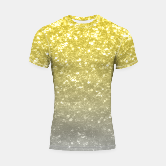 Thumbnail image of Light ultimate grey illuminating yellow sparkles Shortsleeve rashguard, Live Heroes