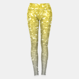 Light ultimate grey illuminating yellow sparkles Leggings thumbnail image