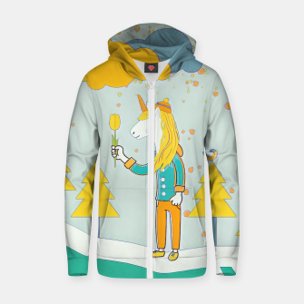 Flower for you Zip up hoodie thumbnail image