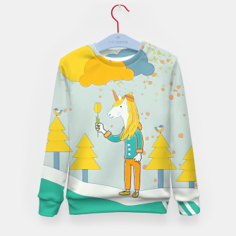 Thumbnail image of Flower for you Kid's sweater, Live Heroes