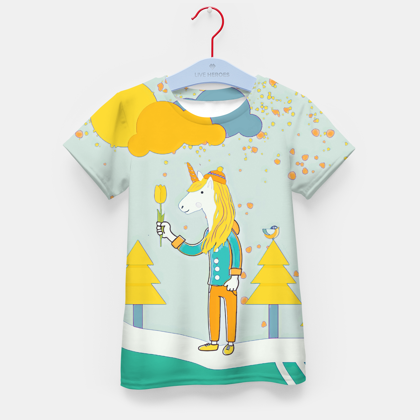 Image of Flower for you Kid's t-shirt - Live Heroes