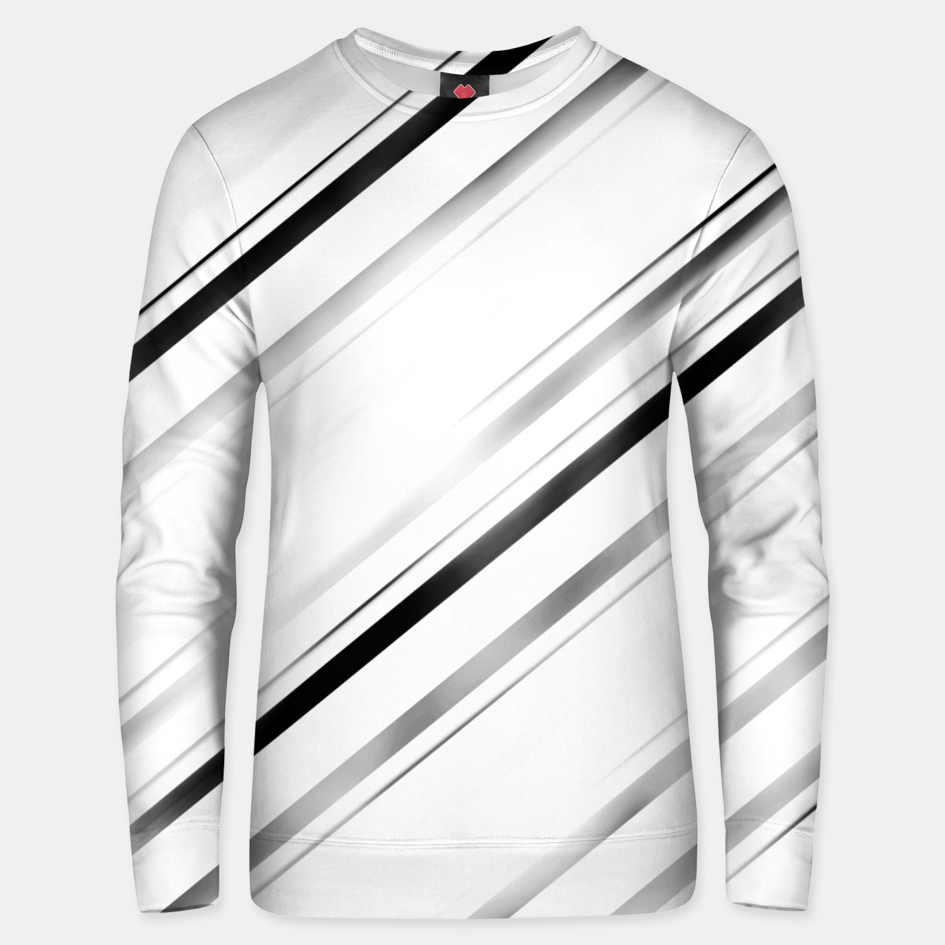 Image de Minimalist Black Linear Abstract Design Unisex sweater - Live Heroes