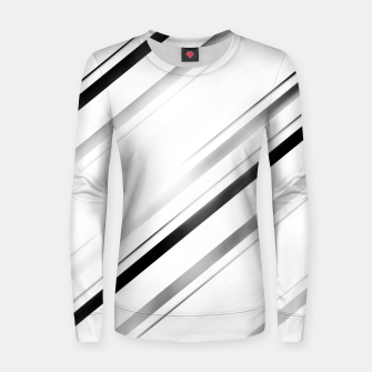 Miniatur Minimalist Black Linear Abstract Design Women sweater, Live Heroes