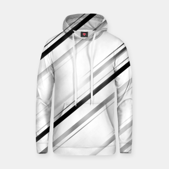 Minimalist Black Linear Abstract Design Hoodie miniature