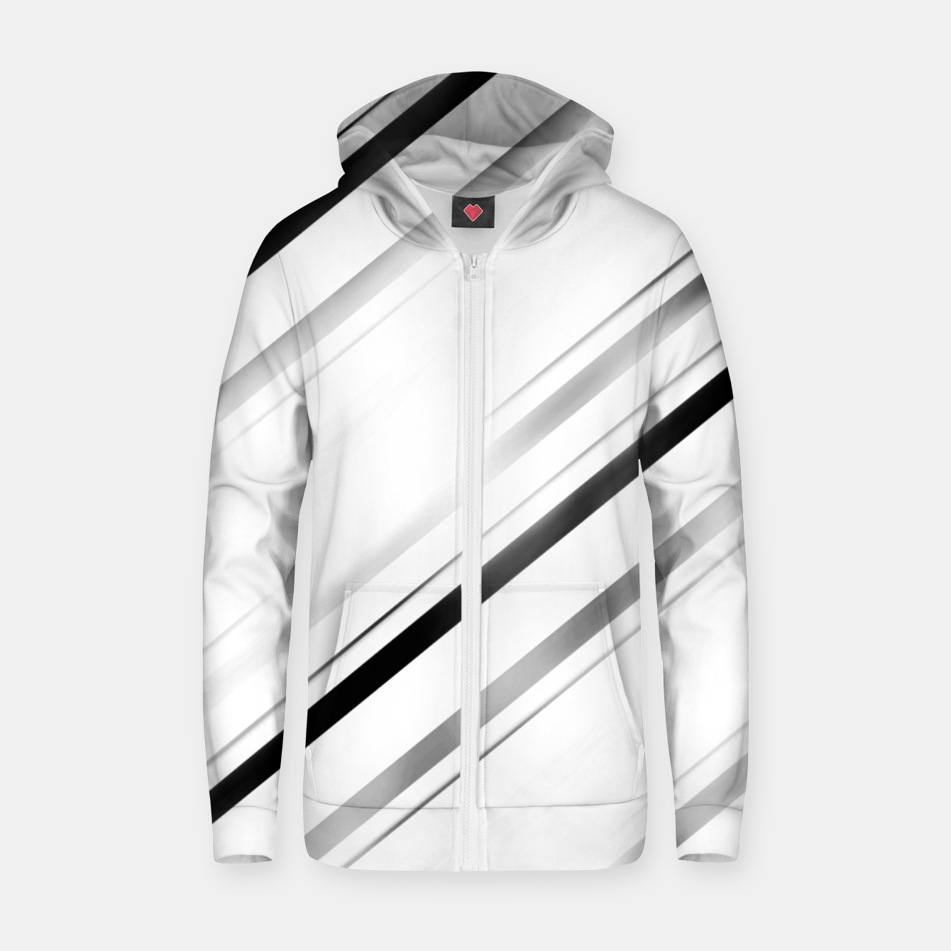 Image de Minimalist Black Linear Abstract Design Zip up hoodie - Live Heroes