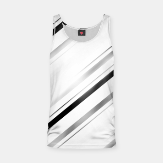 Miniatur Minimalist Black Linear Abstract Design Tank Top, Live Heroes