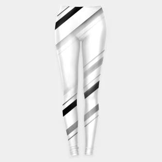 Minimalist Black Linear Abstract Design Leggings miniature