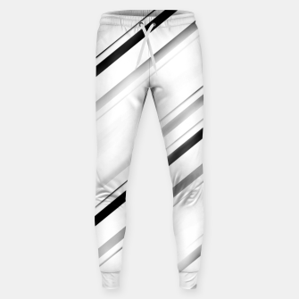 Minimalist Black Linear Abstract Design Sweatpants miniature
