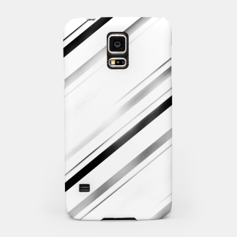 Minimalist Black Linear Abstract Design Samsung Case miniature