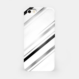 Minimalist Black Linear Abstract Design iPhone Case miniature