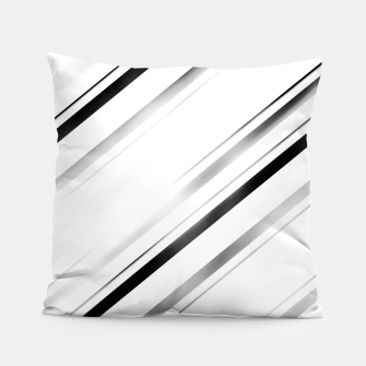 Minimalist Black Linear Abstract Design Pillow miniature