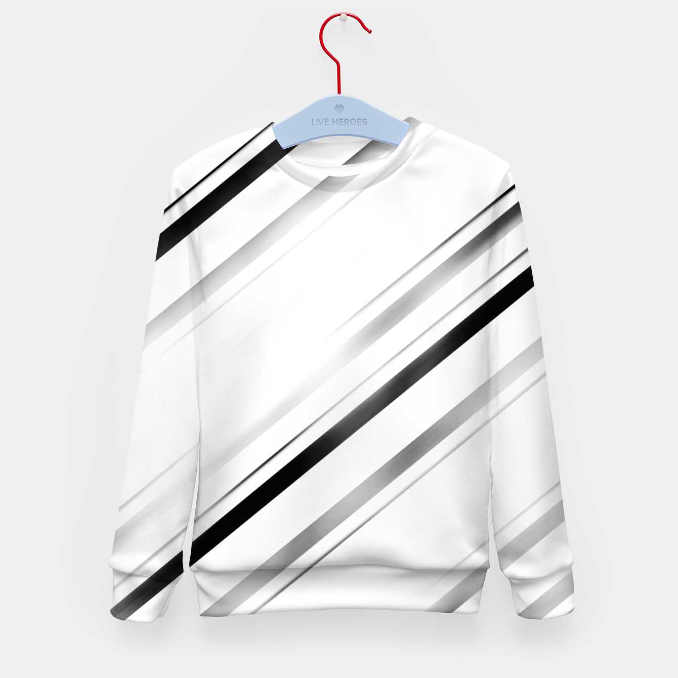 Image de Minimalist Black Linear Abstract Design Kid's sweater - Live Heroes