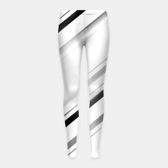 Miniatur Minimalist Black Linear Abstract Design Girl's leggings, Live Heroes