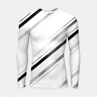 Miniatur Minimalist Black Linear Abstract Design Longsleeve rashguard , Live Heroes