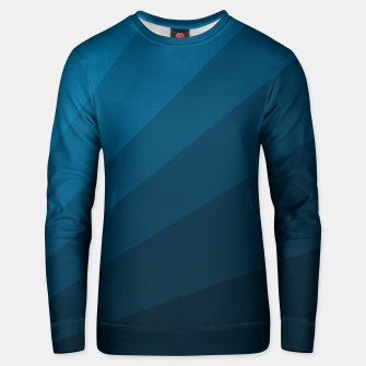 Miniatur The blue fan, geometric design in mystic blue Unisex sweater, Live Heroes